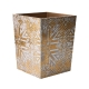 Kim Seybert Distressed Waste Basket Gold