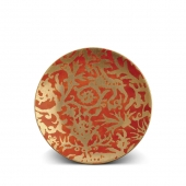 L'Objet Fortuny Pergolesi Dessert Plates Set of 4 Orange
