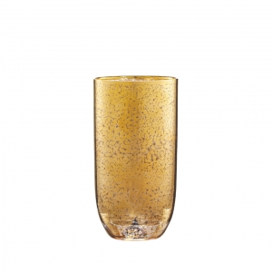 Kim Seybert Crackle Tumbler In Gold Set Of 4 Gold