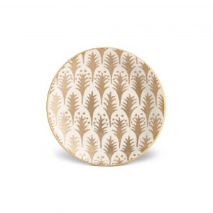 L'Objet Fortuny Piumette Canape Plates Set of 4 Gold