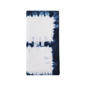 Kim Seybert Congo Napkin In White & Blue Set Of 4 Blue