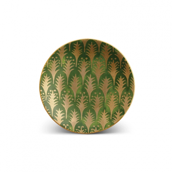 Fortuny Piumette Canape Plates Set of 4 - Green
