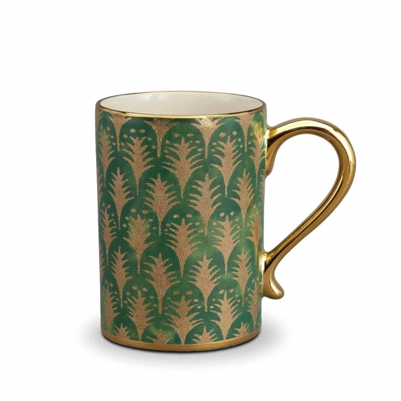 Fortuny Piumette Mugs Set of 4 - Green