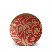L'Objet Fortuny Uccelli Dessert Plates Set of 4 Red