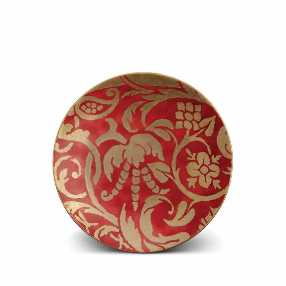 Fortuny Uccelli Dessert Plates Set of 4 - Red