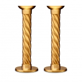 L'Objet Gold Carrousel Large Candlesticks Set of 2