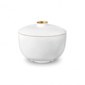 L'Objet Gold Han Rice Bowl with Lid