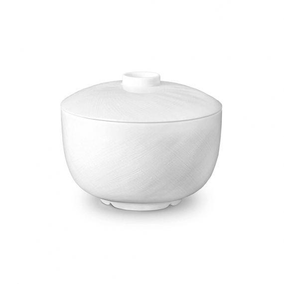 Han Rice Bowl with Lid - White