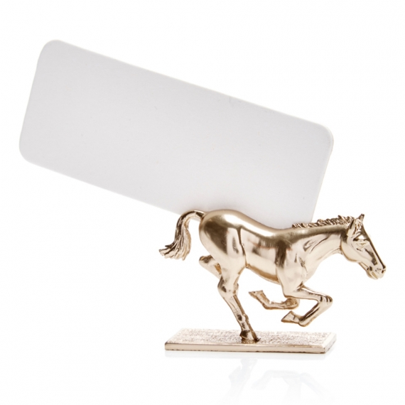 Horse Place Card Holders Set of 6 - Gold