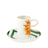 Amazonia Set of 2 Expresso Cups and Saucers