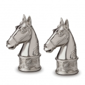L'Objet Horse Spice Jewels Set of 2 Platinum