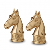 L'Objet Horse Spice Jewels Set of 2 Gold