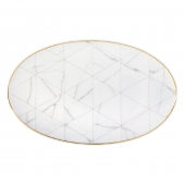 Vista Alegre Carrara Large Oval Platter Set Of 2 Multi