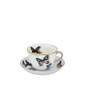Vista Alegre Butterfly Parade Coffee Cup And Saucer Set Of 4 Multi