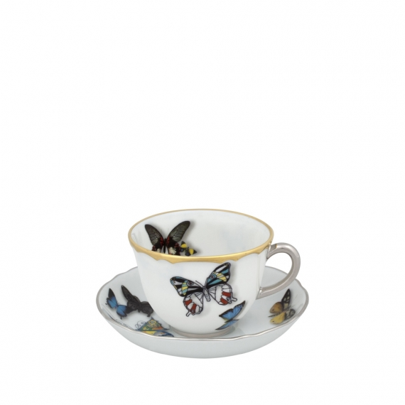 Butterfly Parade Coffee Cup and Saucer Set of 4