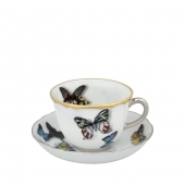 Butterfly Parade Set of 2 Coffee Cups and Saucers
