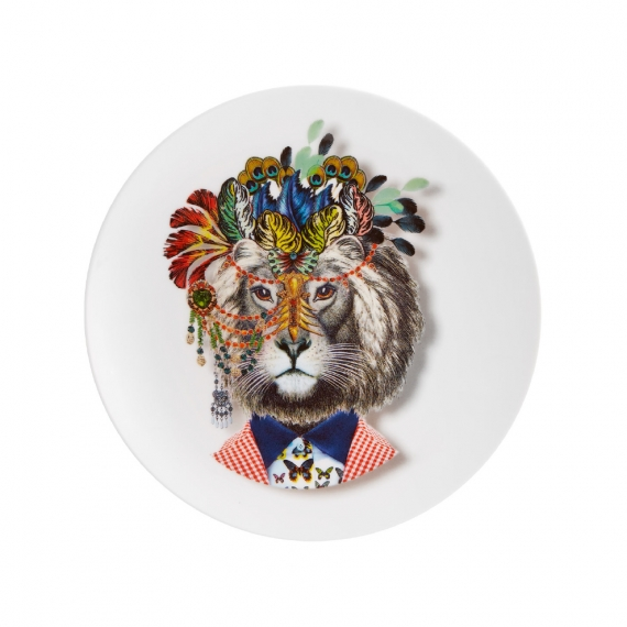 Love Who You Want Dessert Plate Jungle King