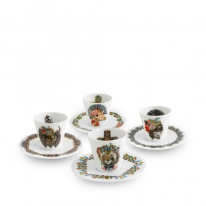 Love Who You Want Set of 4 Coffee Cups and Saucers