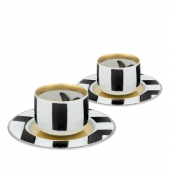 Sol Y Sombra Set of 2 Coffee Cups and Saucers