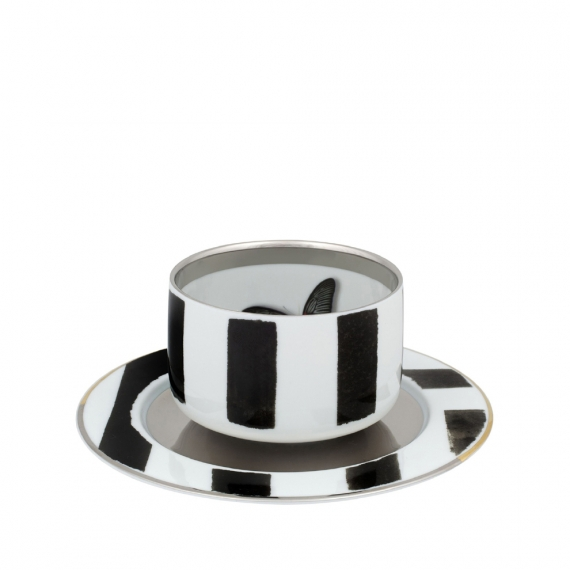 Sol Y Sombra Tea Cup with Saucer Butterfly Set of 4