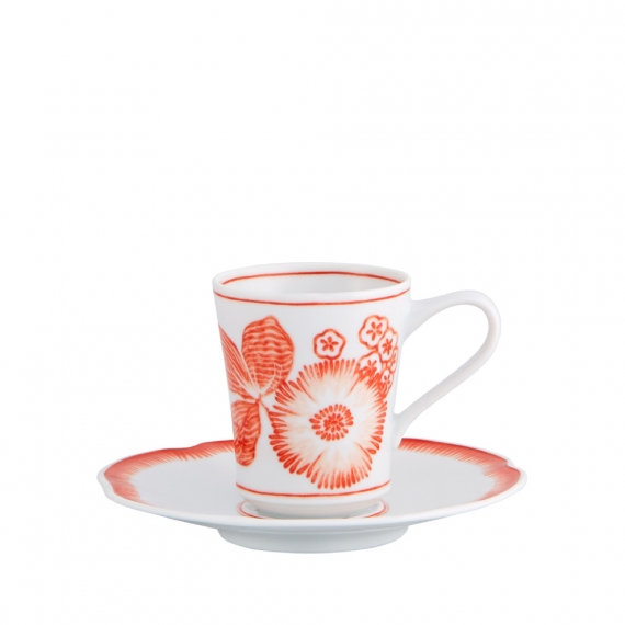 Coralina Coffee Cup And Saucer Set of 4