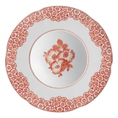 Vista Alegre Coralina Soup Plate Set Of 4 Red