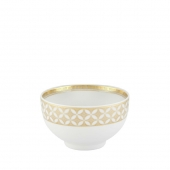 Vista Alegre Gold Exotic Rice Bowl Set Of 4 Gold
