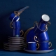 L'Objet Lapis Tea Cup & Saucer Set Of 2 Blue