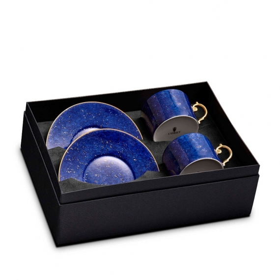 Lapis Tea Cup & Saucer Set of 2