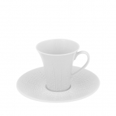 Vista Alegre Mar Espresso Cup And Saucer Set Of 4 White