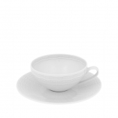 Vista Alegre Mar Tea Cup And Saucer Set Of 4 White