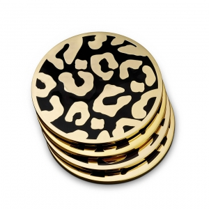 L'Objet Leopard Coasters Set of 4