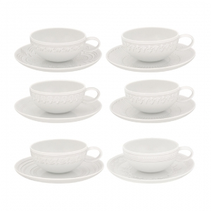 Ornament Set of 6 Tea Cups and Saucers