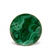 L'Objet Malachite Dessert Plates Set of 4