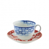 Vista Alegre Timeless Tea Cup And Saucer Set Of 4 Multi