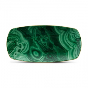L'Objet Malachite Rectangular Tray Medium