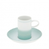 Vista Alegre Venezia Coffee Cup And Saucer Set Of 4 Ocean Green