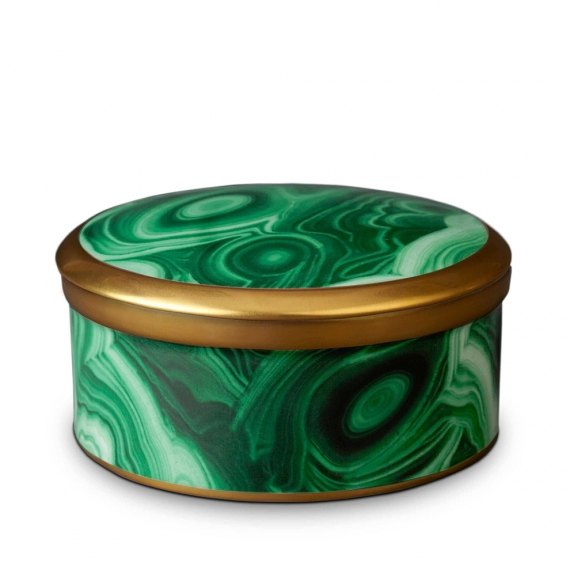 Malachite Round Box