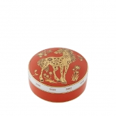Golden Round Box Horse