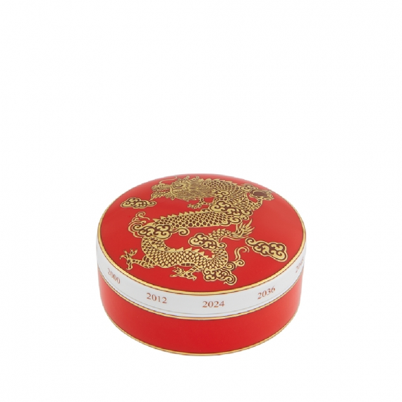 Golden Round Box Dragon