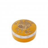 Vista Alegre Golden Round Box Rooster Gold