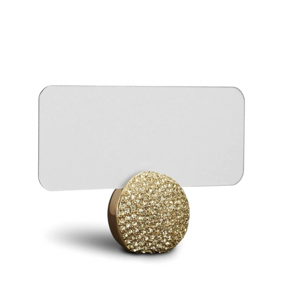 Pave Sphere Place Card Holders Set of 6 - Gold