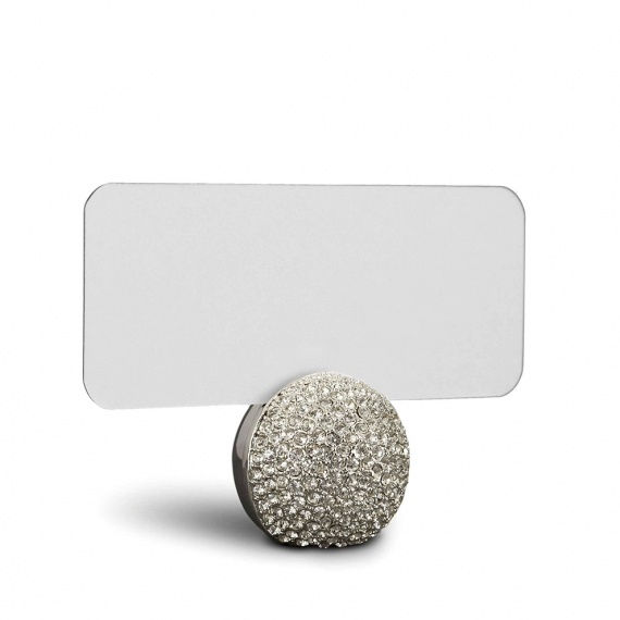 Pave Sphere Place Card Holders Set of 6 - Platinum