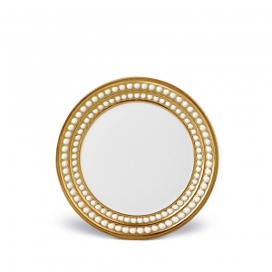 L'Objet Perlée Bread and Butter Plate Gold