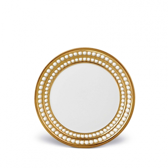 Perlée Bread + Butter Plate - Gold