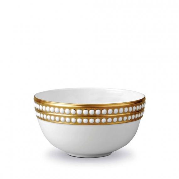 Perlée Cereal Bowl - Gold