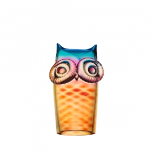 My Wide Life Owl Yellow Red