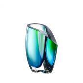 Kosta Boda Mirage Vase Green Blue