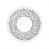 Orrefors Carat Cake And Serving Plate Clear