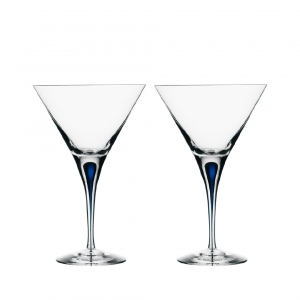 Orrefors Intermezzo Blue Martini Pair Clear